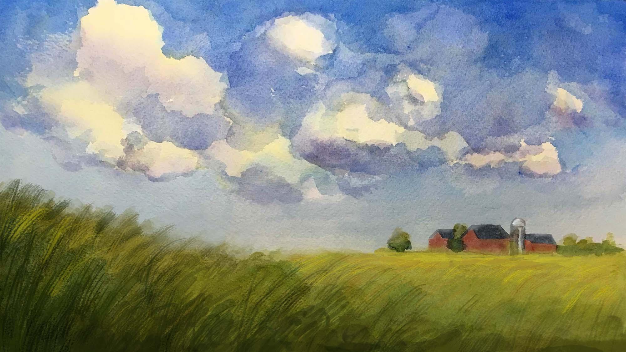 Painting of prairie
