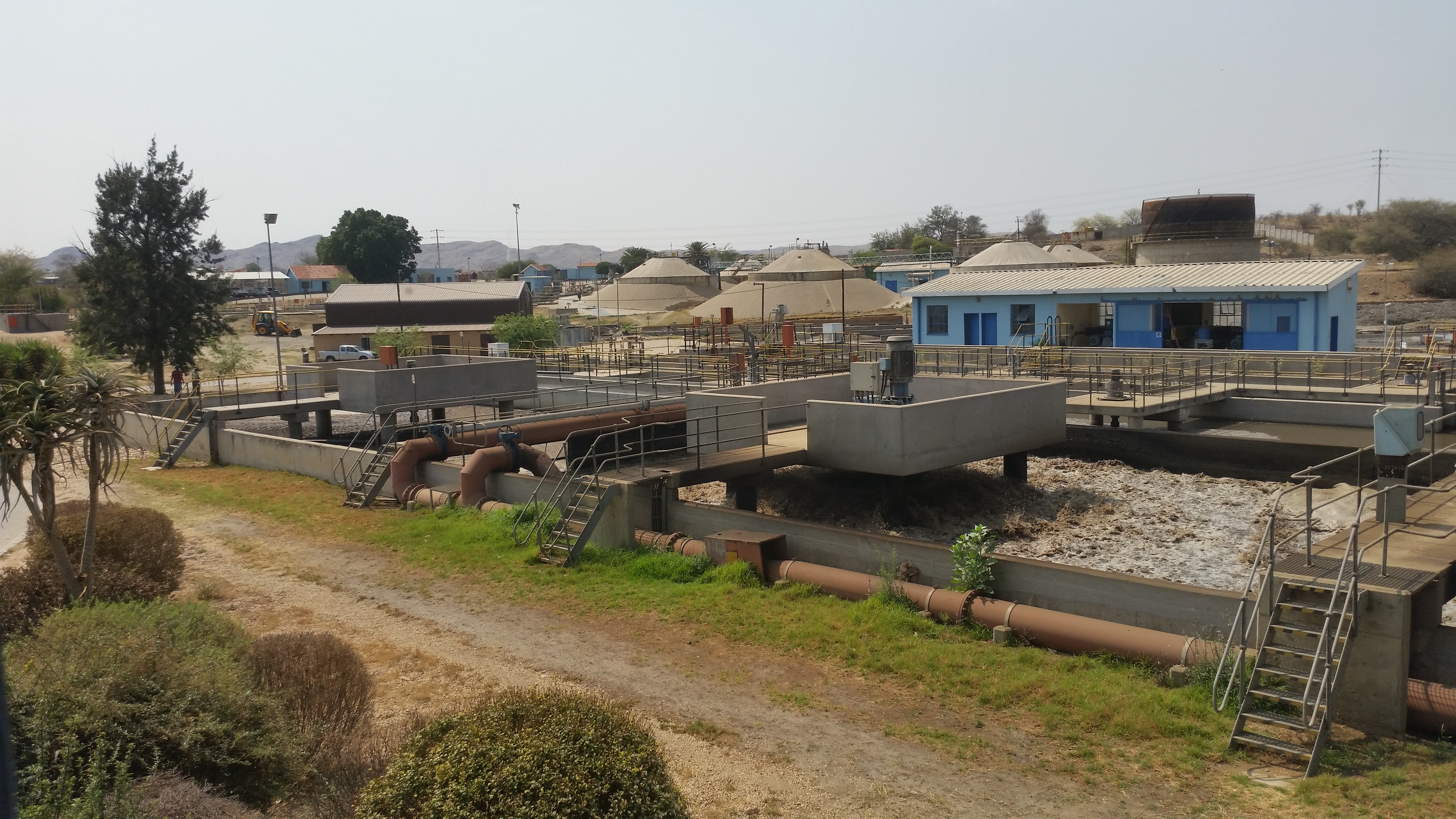 The recyling process begins with a conventional sewage treatment system. But at the point where processed sewage would normally be discharged into a waterway, the Goreangab plant sends it through additional steps that purify it to drinking water standards