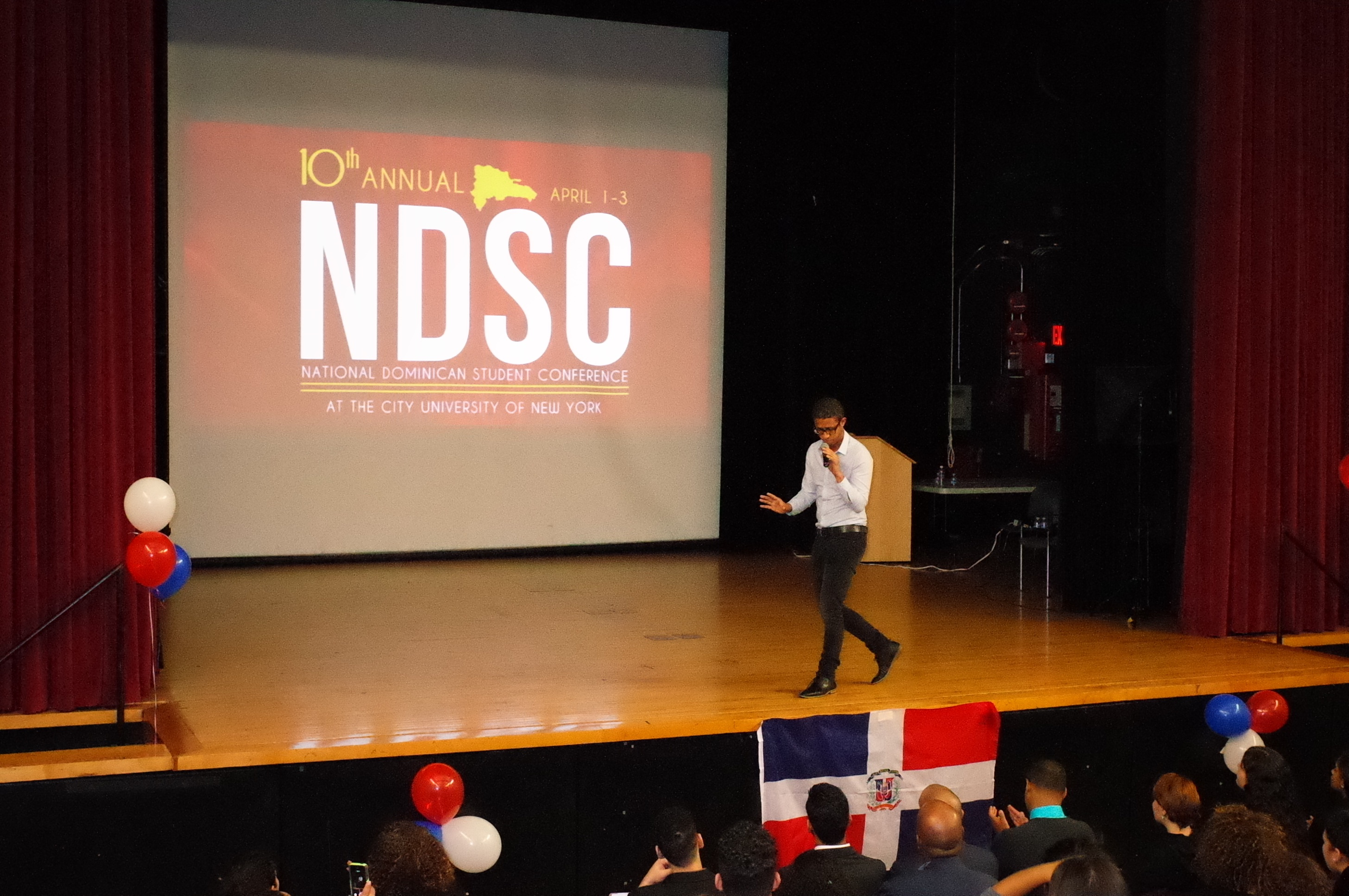 Deivis Ventura at the National Dominican Student Conference at City College of New York.