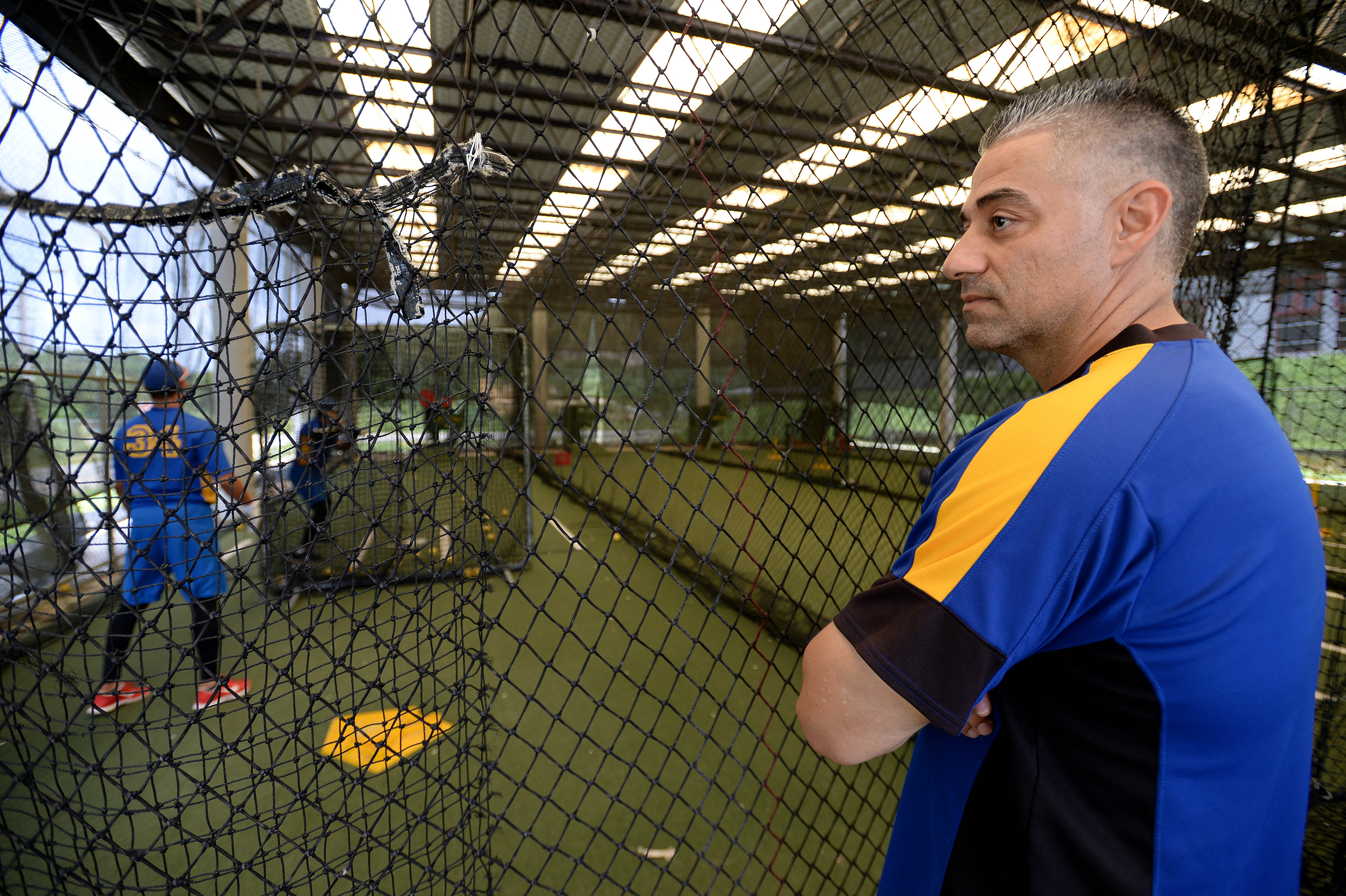Former Major Leaguer Alex Diaz Watches His Players In The