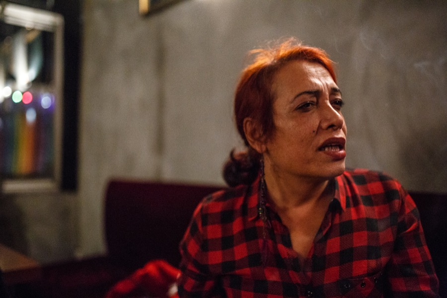Esmeray, 43, a former sex worker turned journalist and playwright in Istanbul.