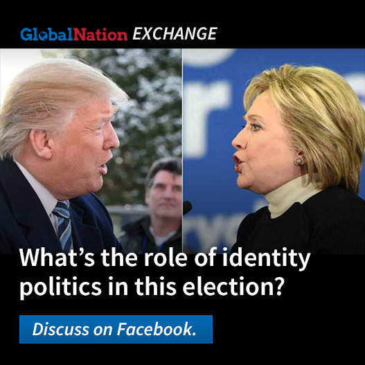 Donald Trump and Hillary Clinton face off in a composite image