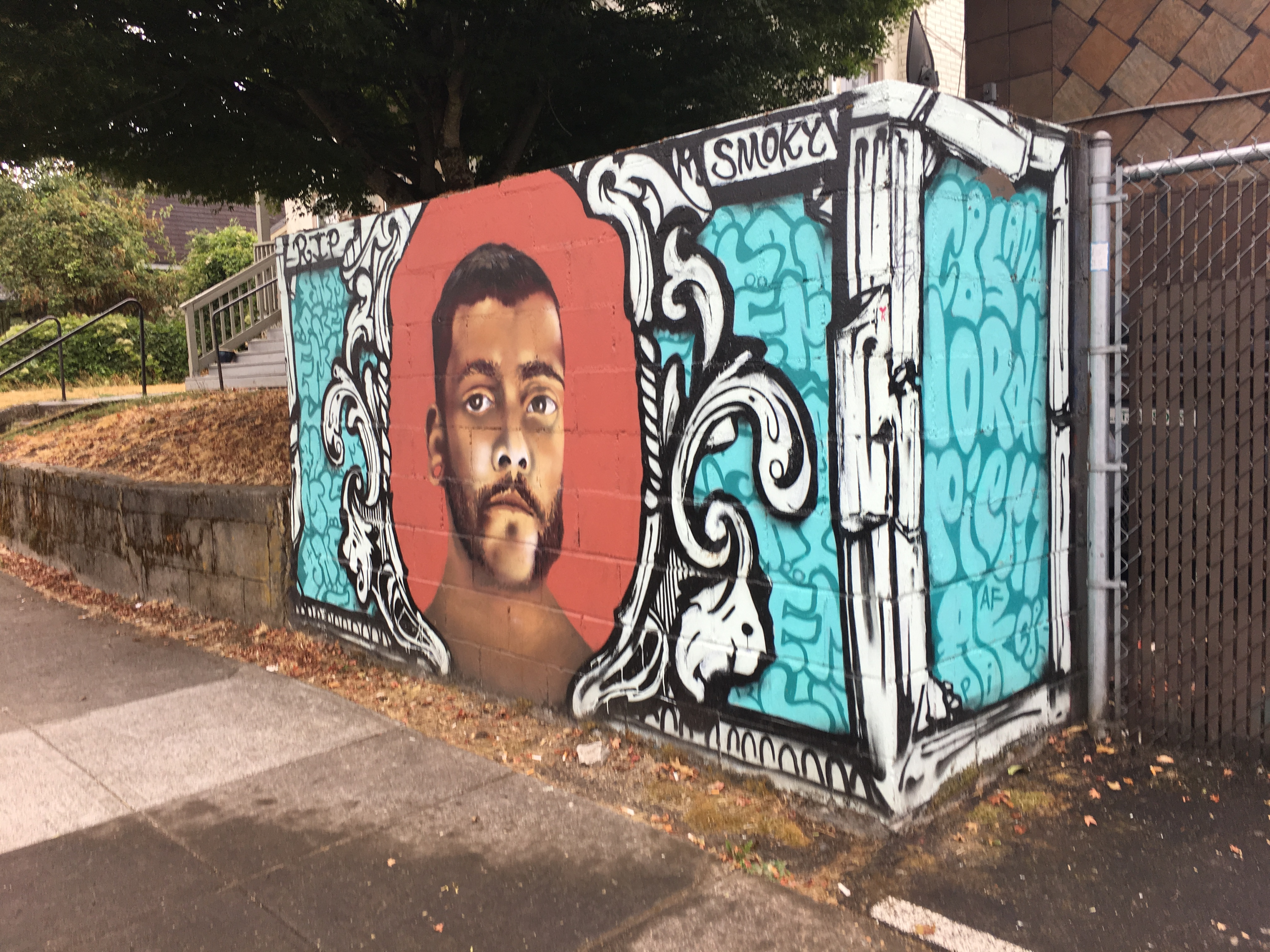 Street art in Portland memorializes young black men who've died.
