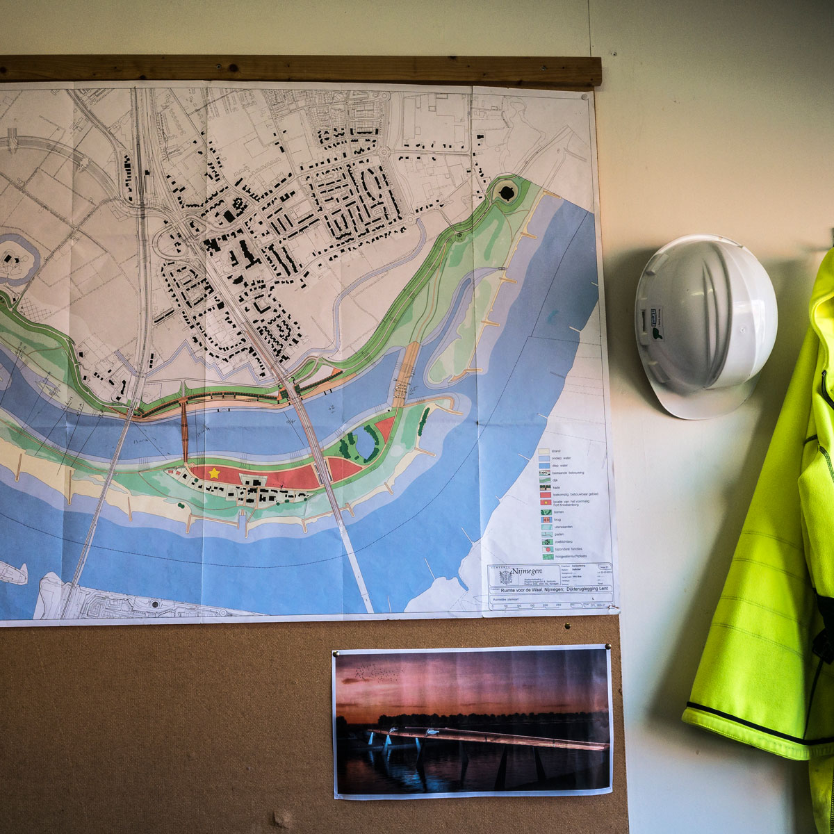 A planning map for the Room for the River project in Nijmegen, the Netherlands.