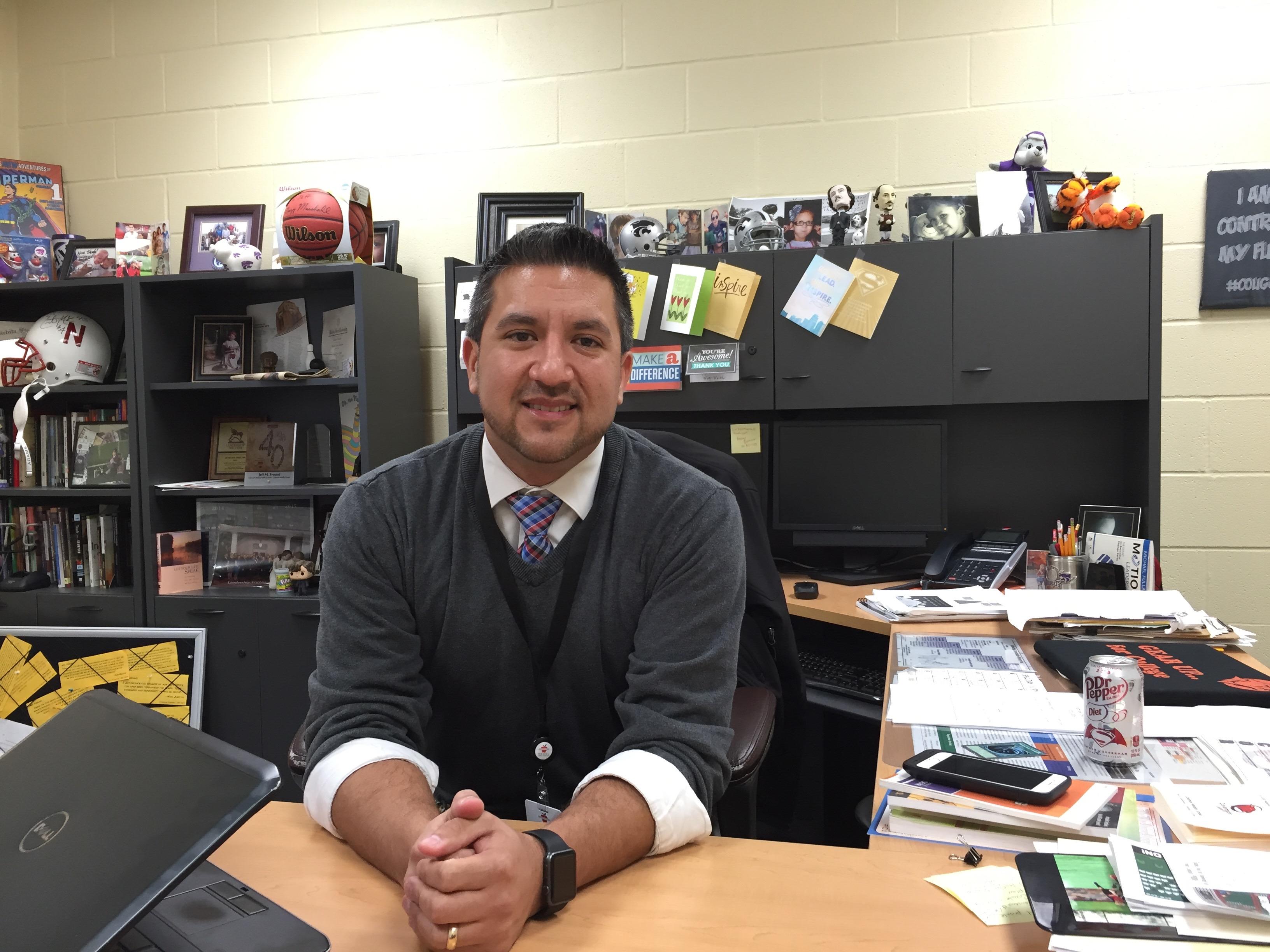 Coleman Middle School Principal Jeff Freund