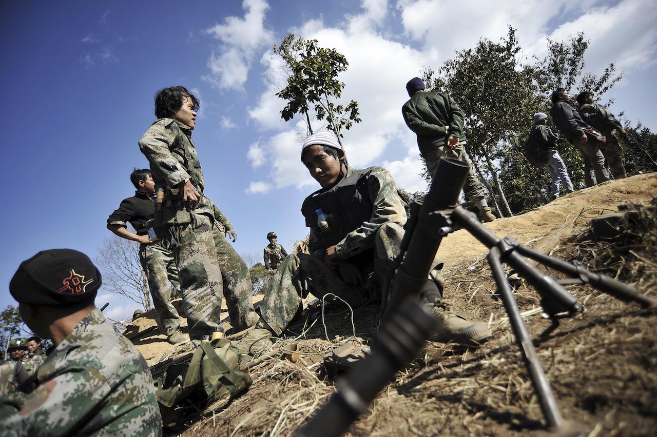 KIA Myanmar front line