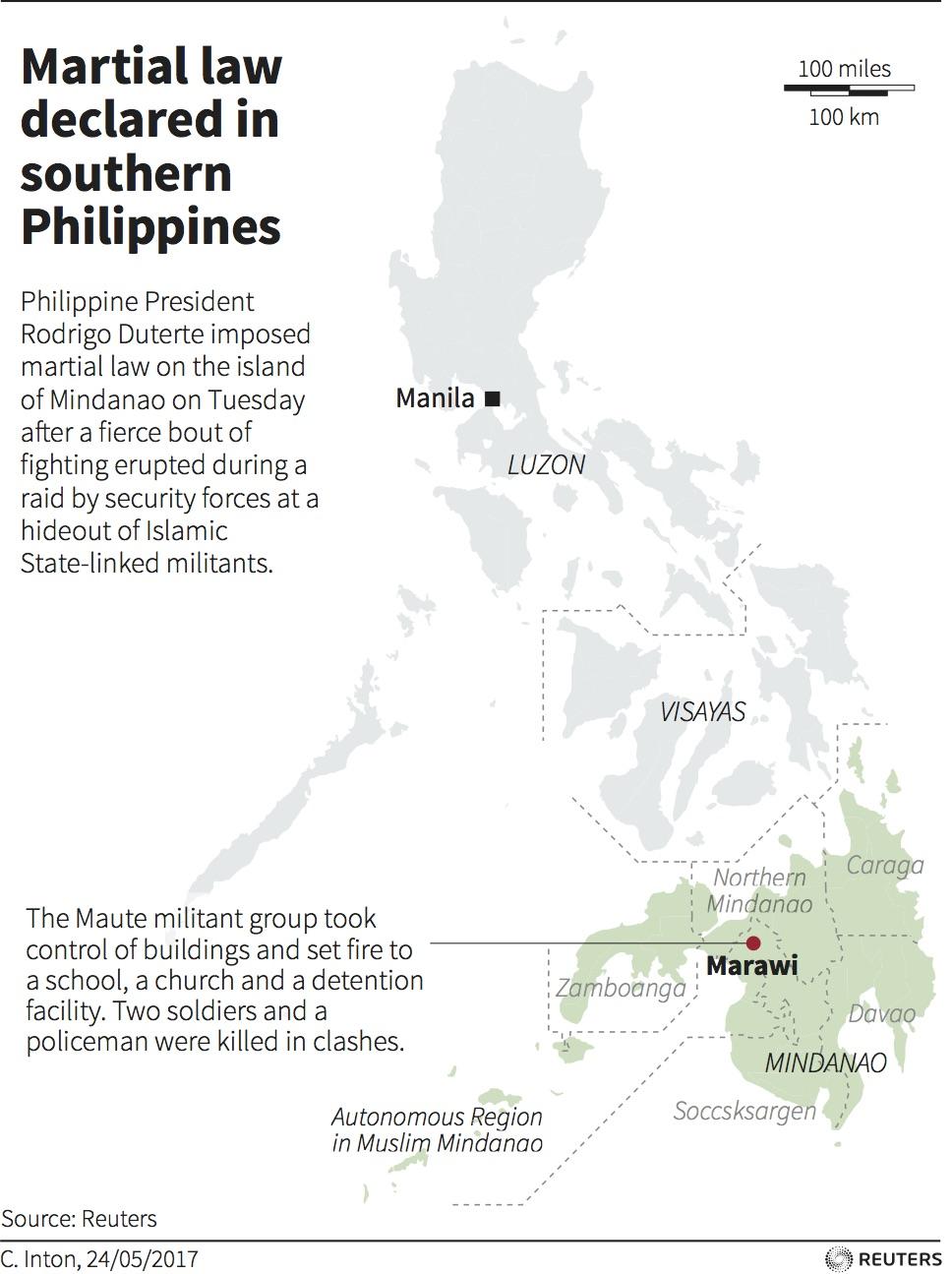 Marawi Martial Law Map Public Radio International