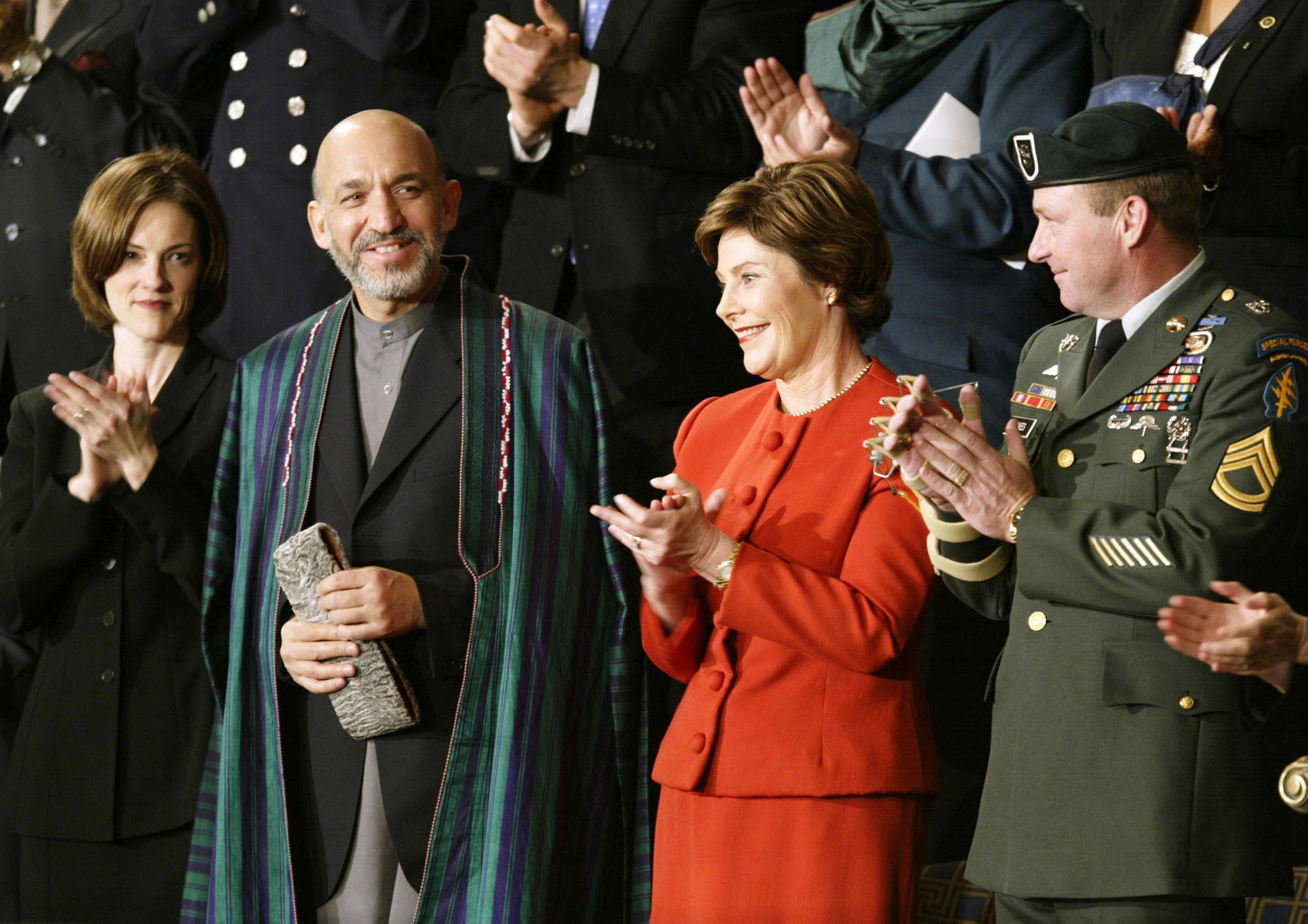 Afghan President Hamid Karzai attending the 2002 State of the Union address