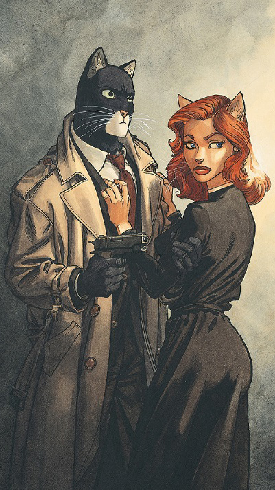 Cover for Blacksad: Somewhere within the Shadows