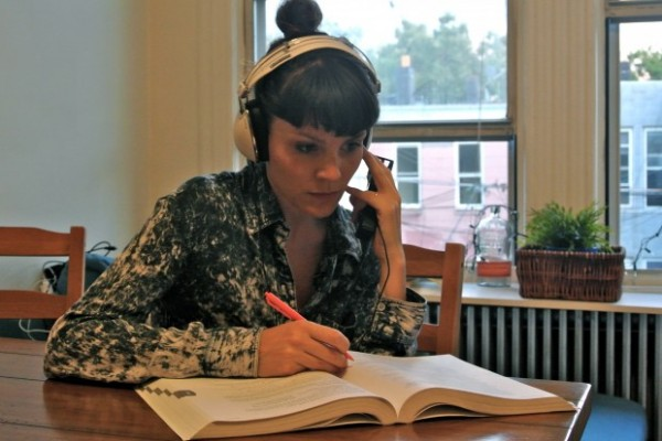 Sara Loscos working on an accent exercise. (Photo provided by Sara Loscos)