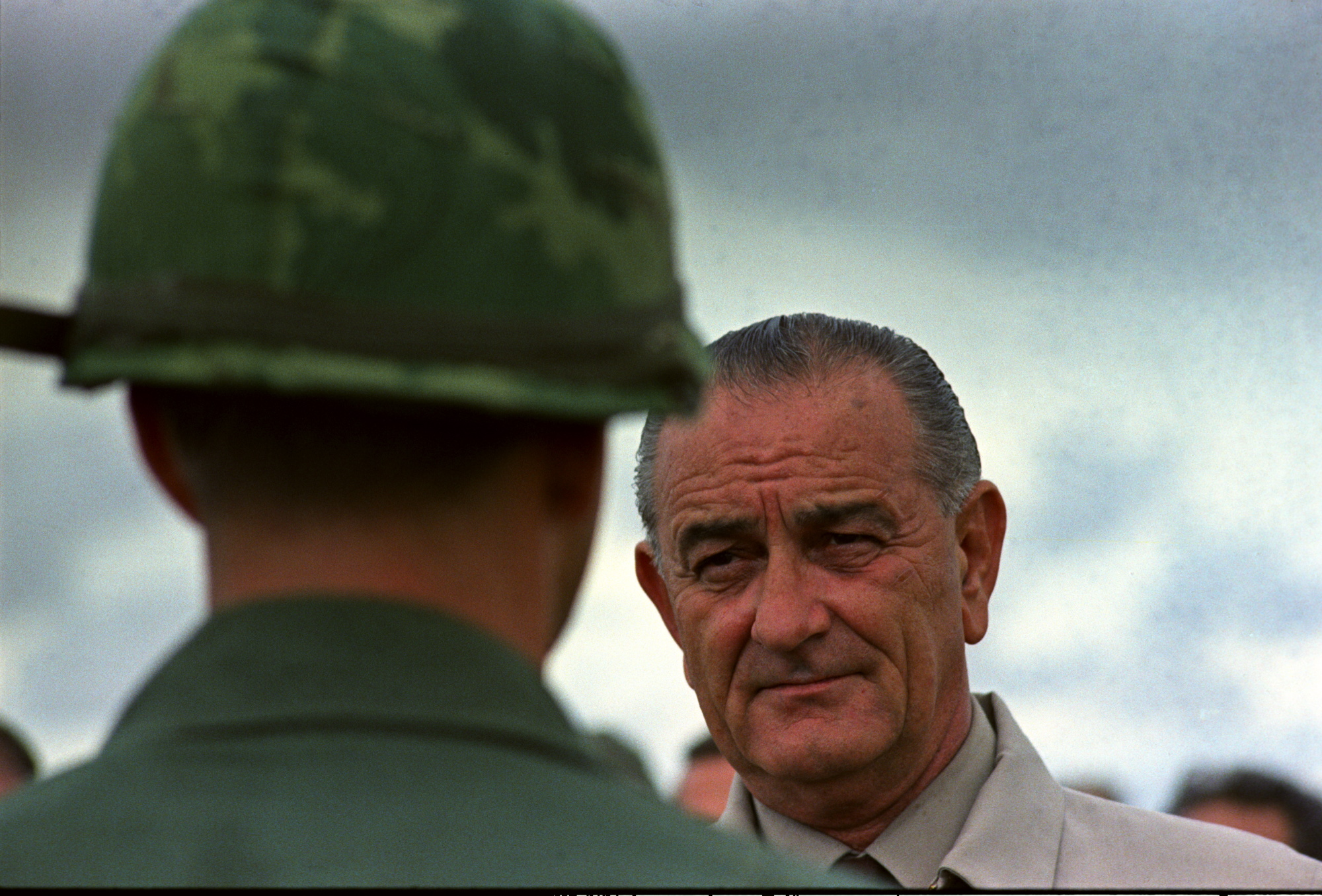 President Lyndon B. Johnson's visit to Vietnam