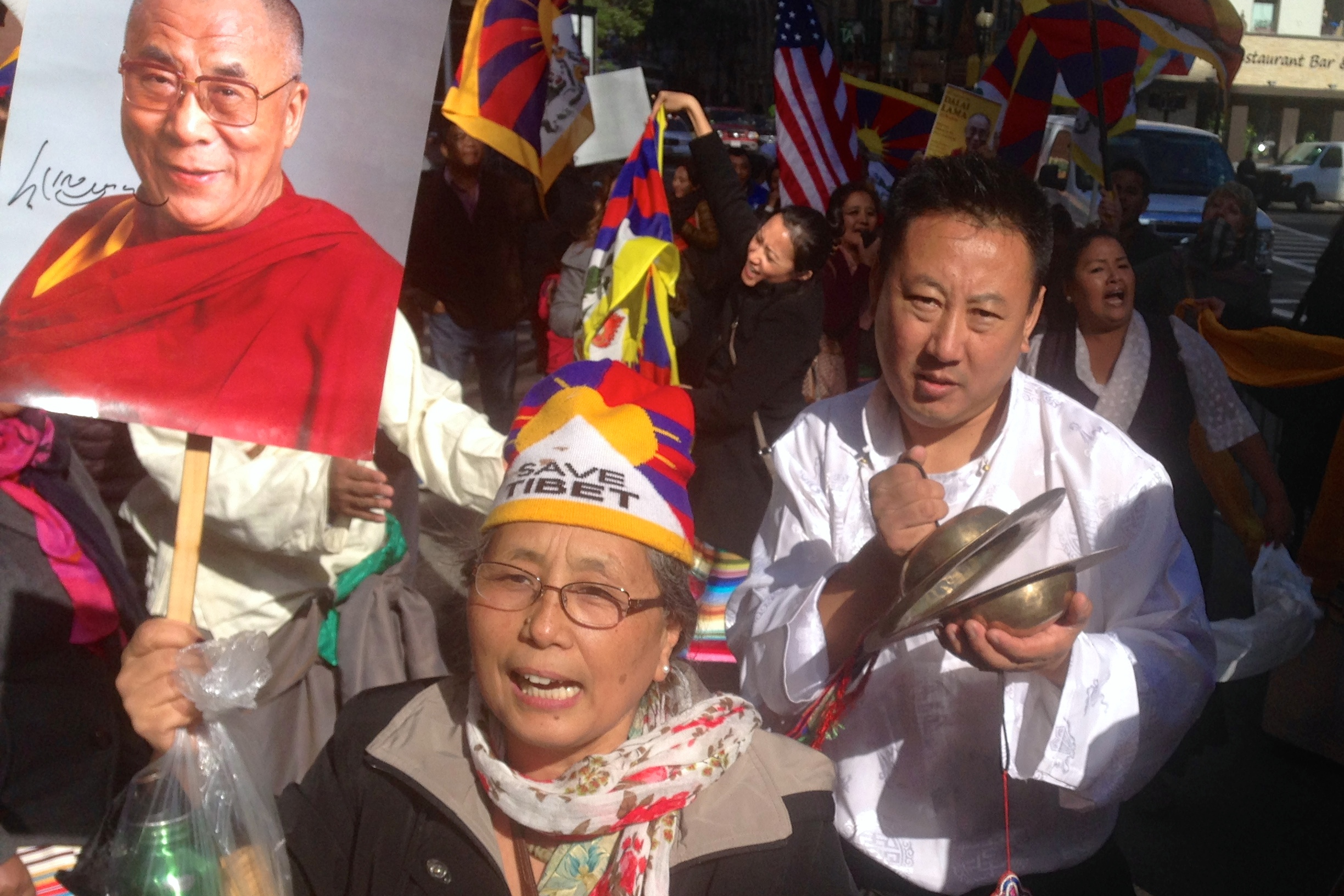Tibetans turned out to welcome the Dalai Lama to Boston.