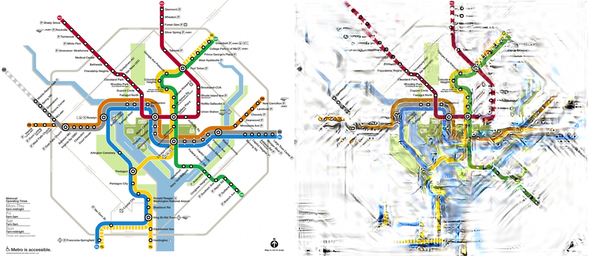 A Researcher Is Trying To Make Those Confusing Transit Maps Easier - Washington dc loop map