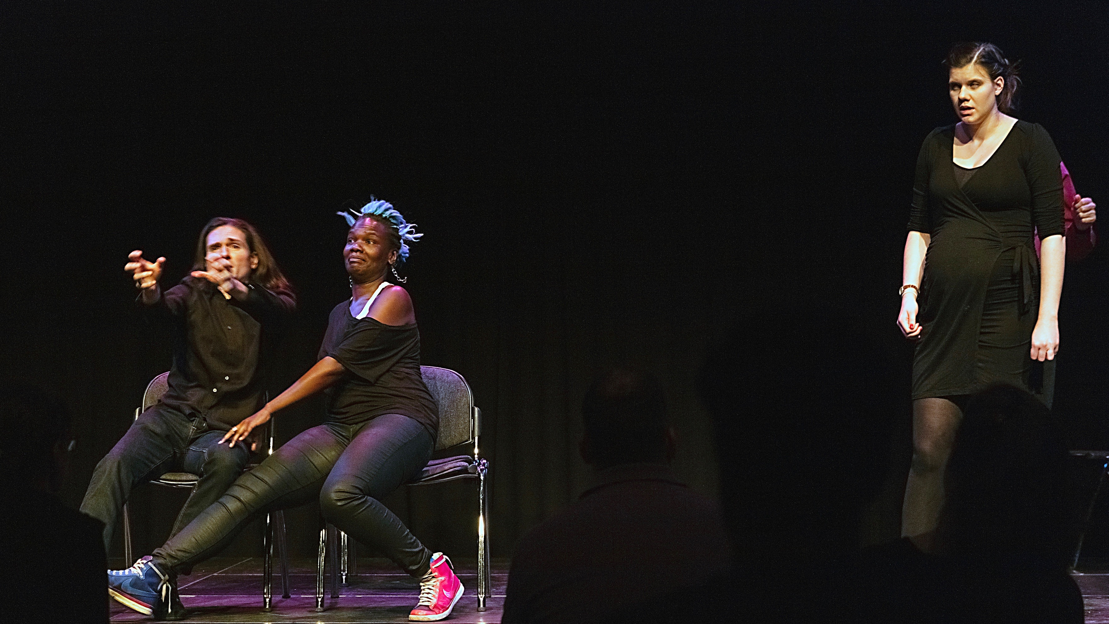 A performance from the Netherlands-based comedy improv group Easy Laughs.