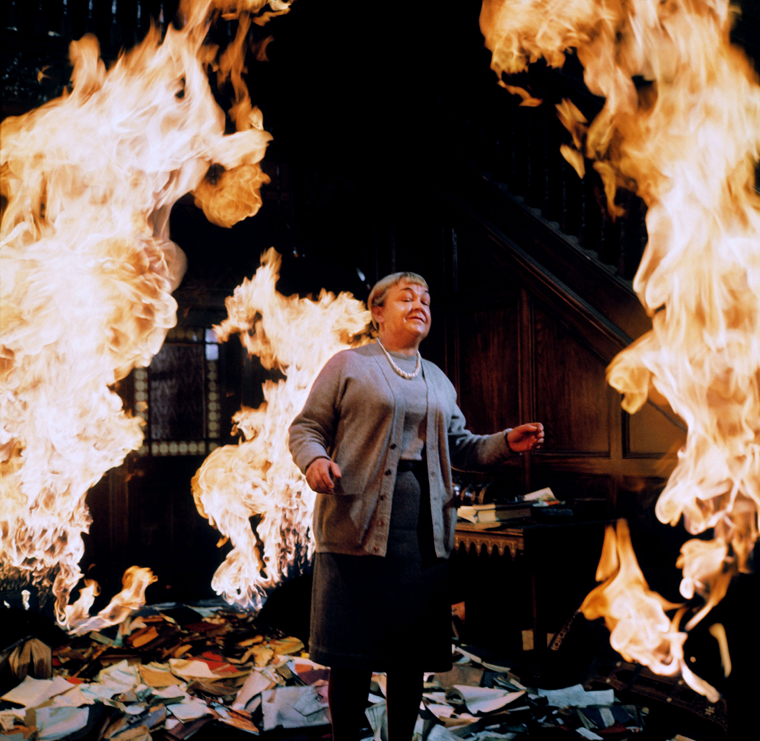"Book Lady from the 1966 movie ""Fahrenheit 451."""