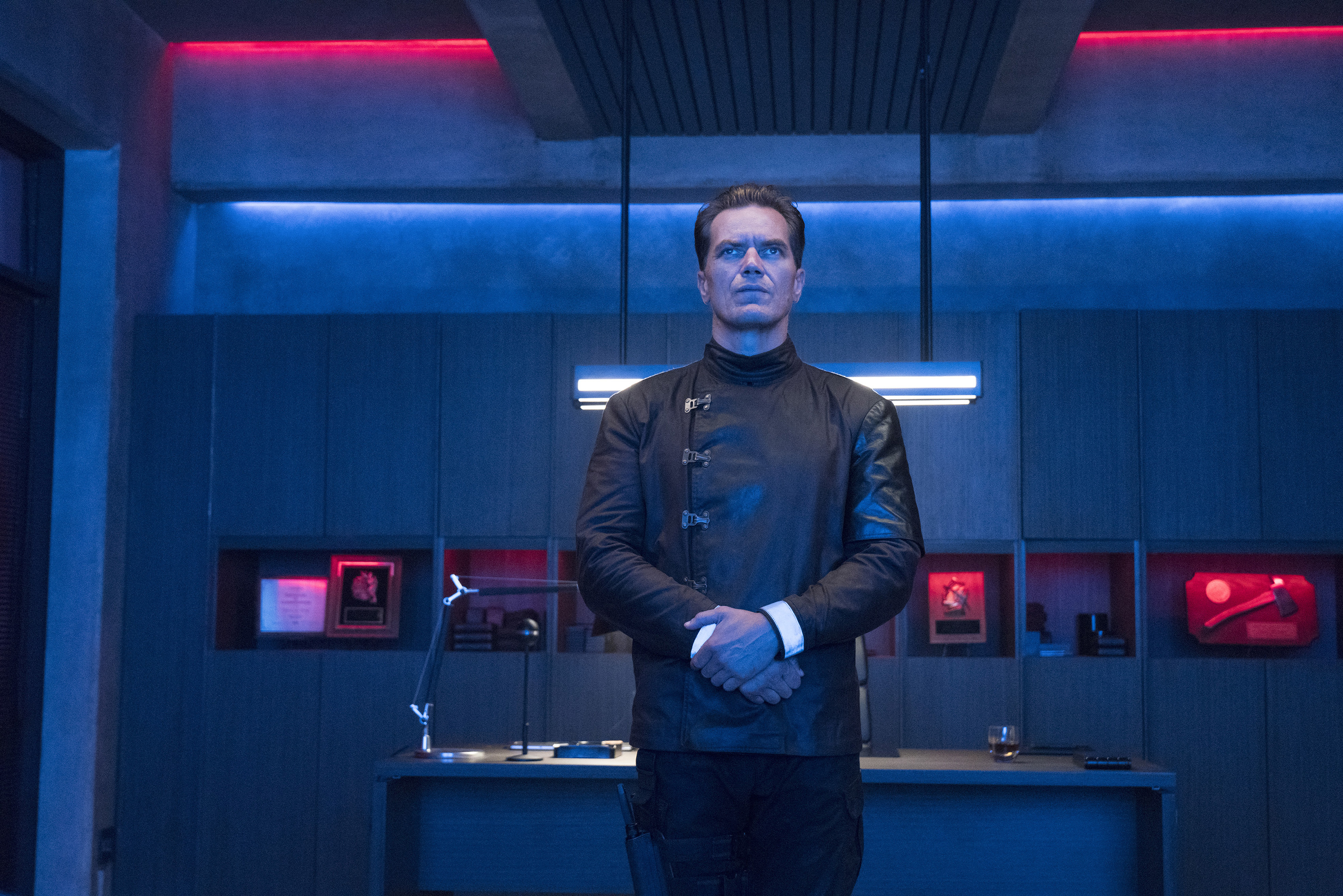 "Michael Shannon in HBO's ""Fahrenheit 451."""