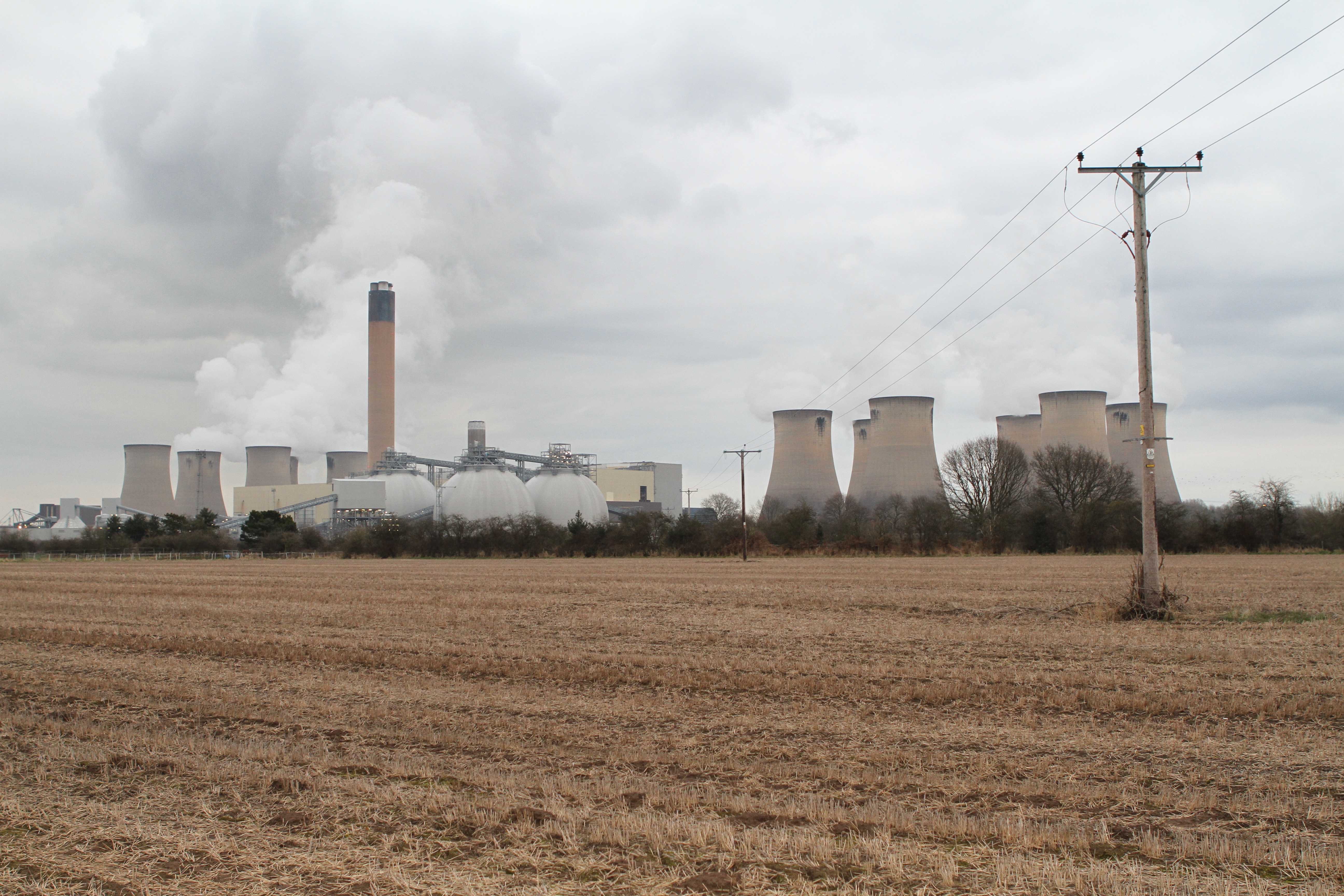 Drax power plant in Drax, England