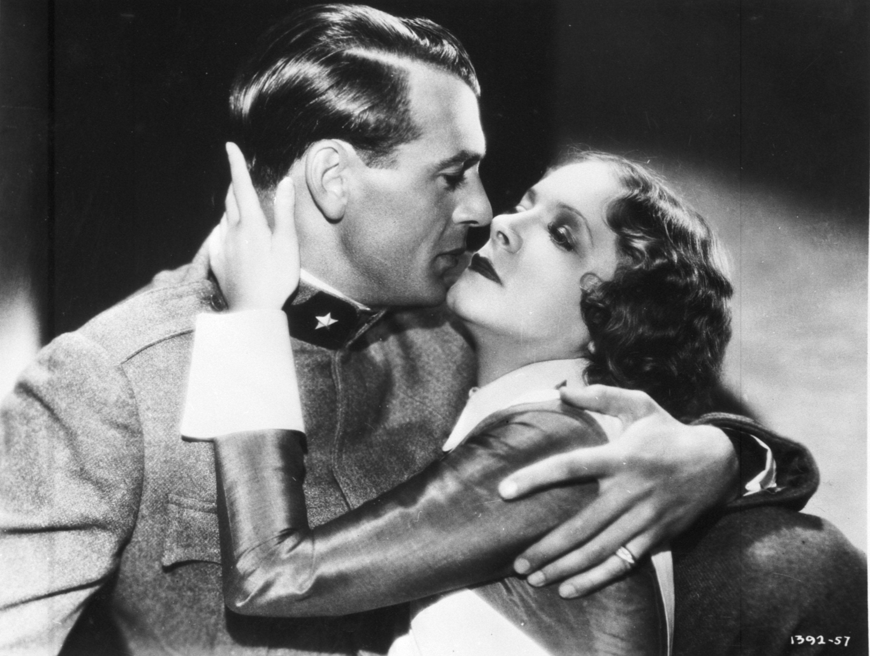 "Gary Cooper and Helen Hayes in ""A Farewell to Arms"" (dir. Frank Borzage, 1932)"