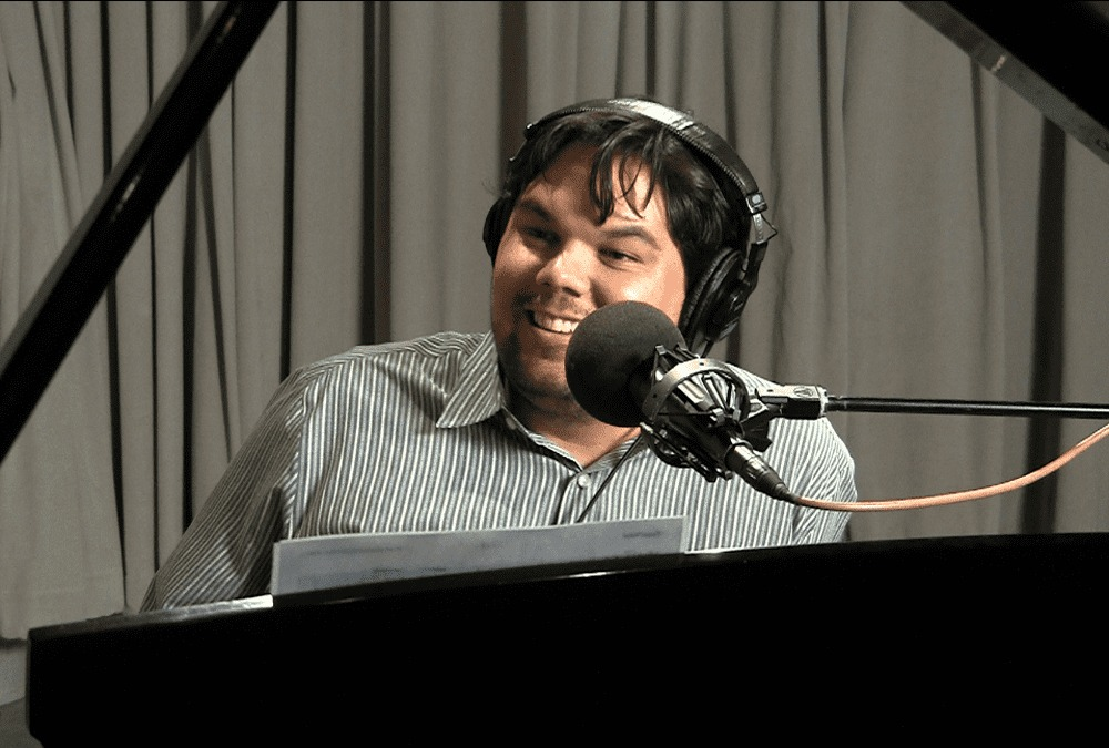Robert Lopez performs in studio in 2011.