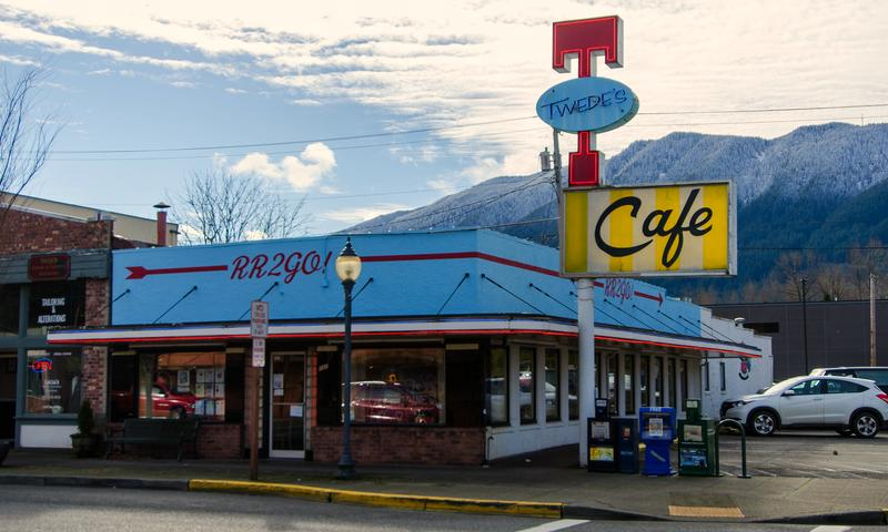 """Twede's Cafe in North Bend, Washington, where the Double R Diner scenes are filmed for """"Twin Peaks."""""""