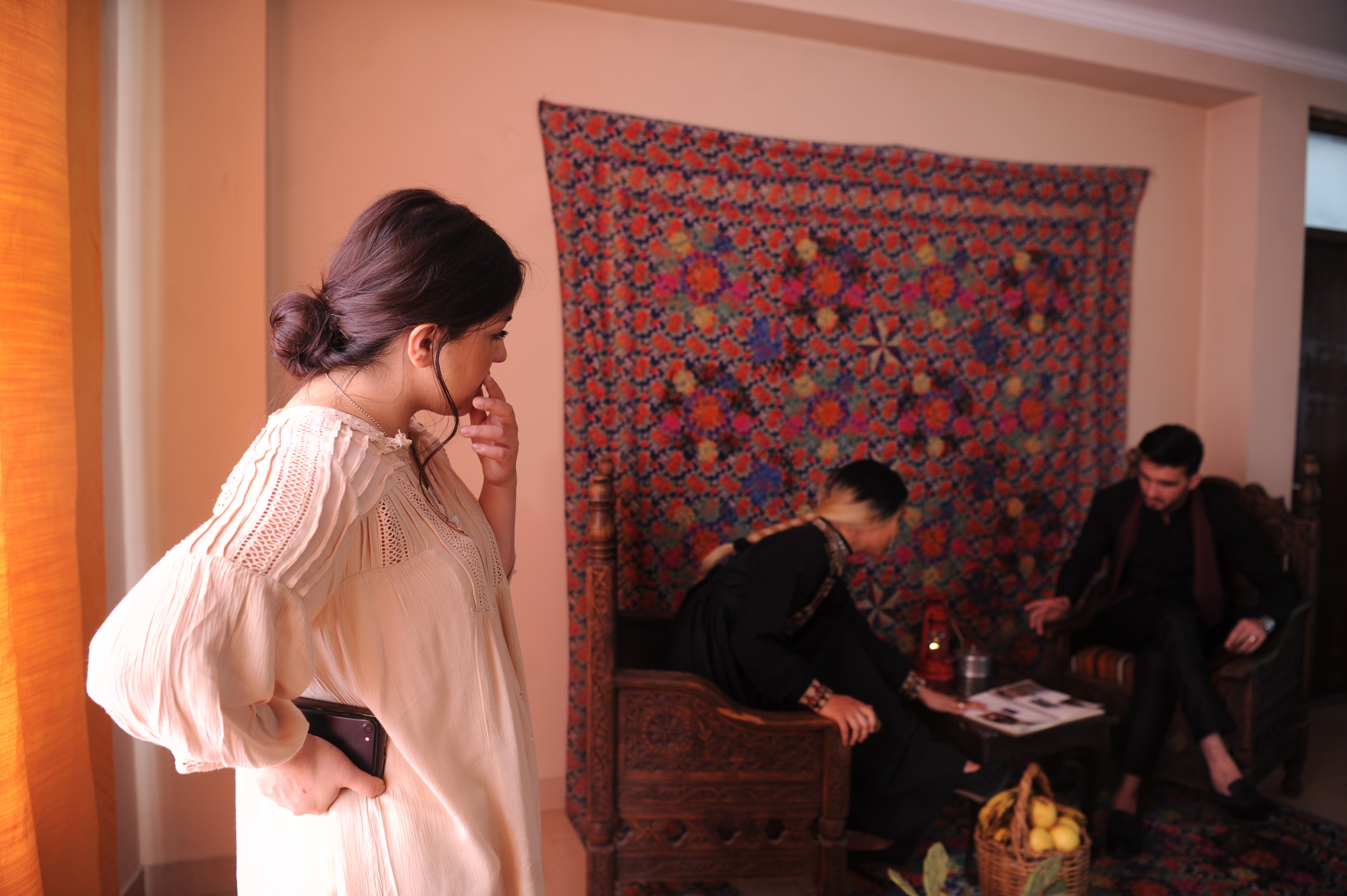 Fashion designer Rahiba Rahimi at a photoshoot for her label Laman.