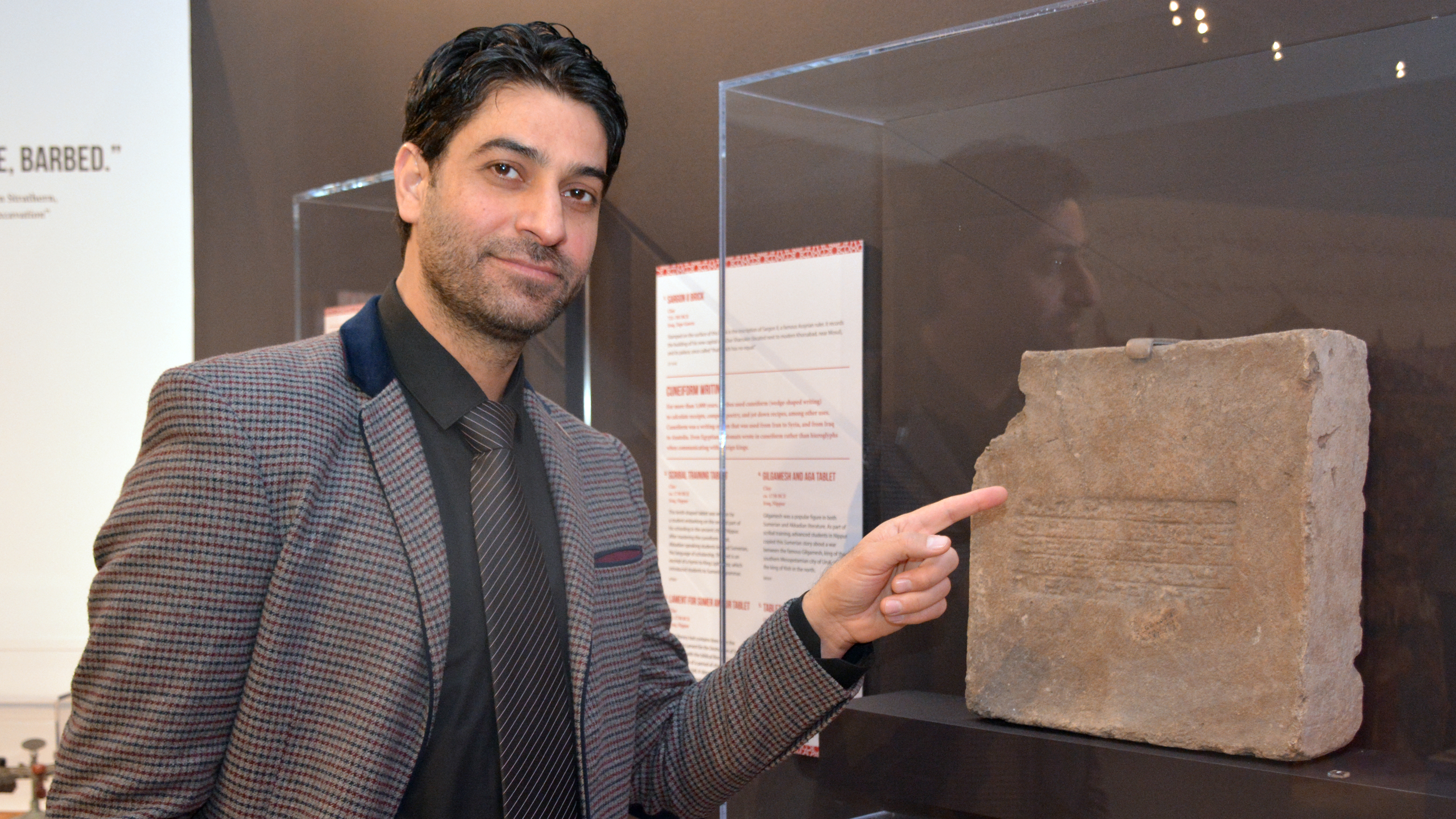 "Hadi Jasim was an Iraqi translator for the US military. Now he's a ""global guide"" at the Penn Museum in Philadelphia."