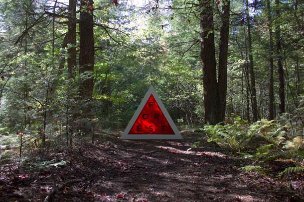 Hemlock art installation