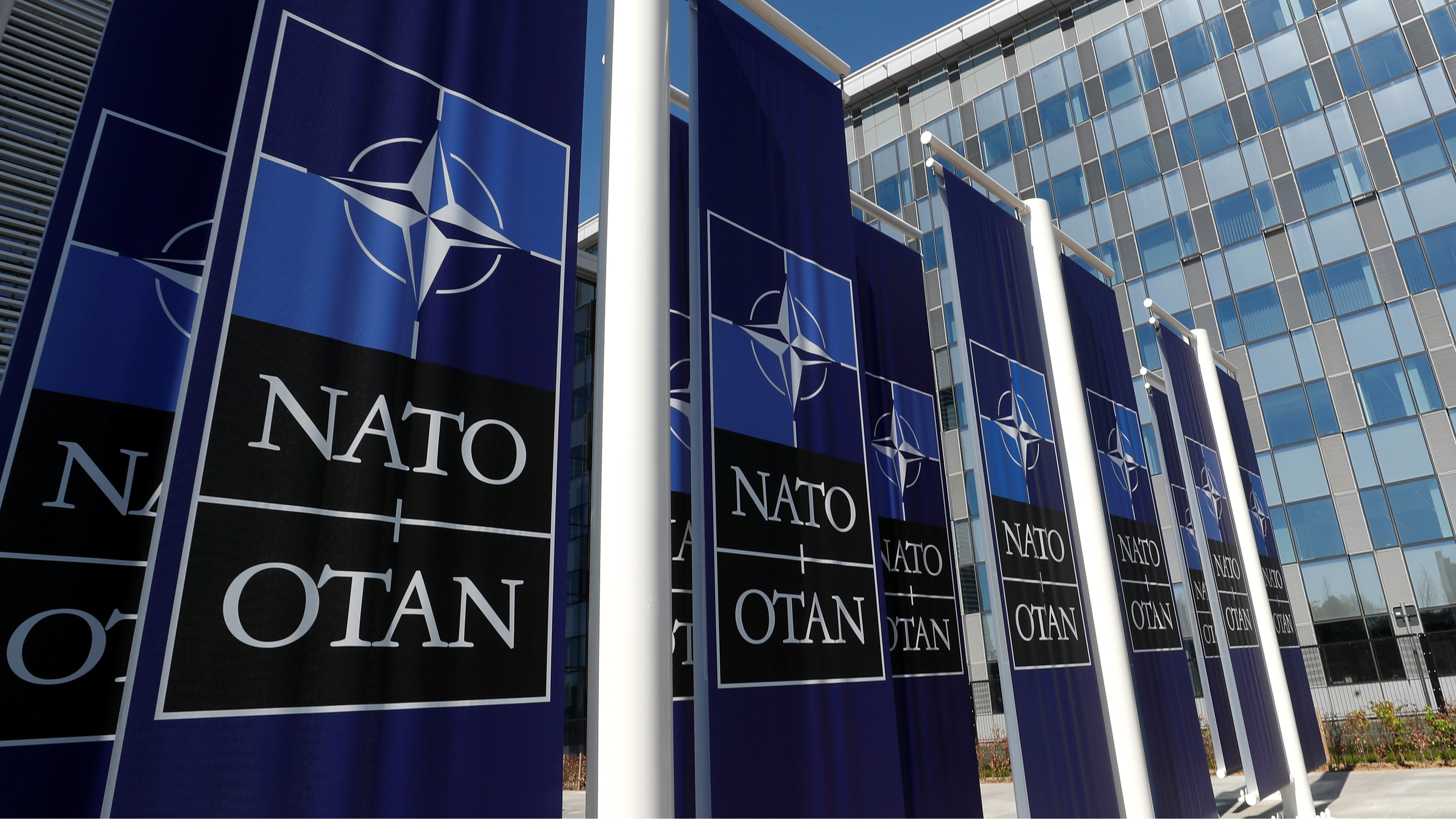 banners for nato in brussels