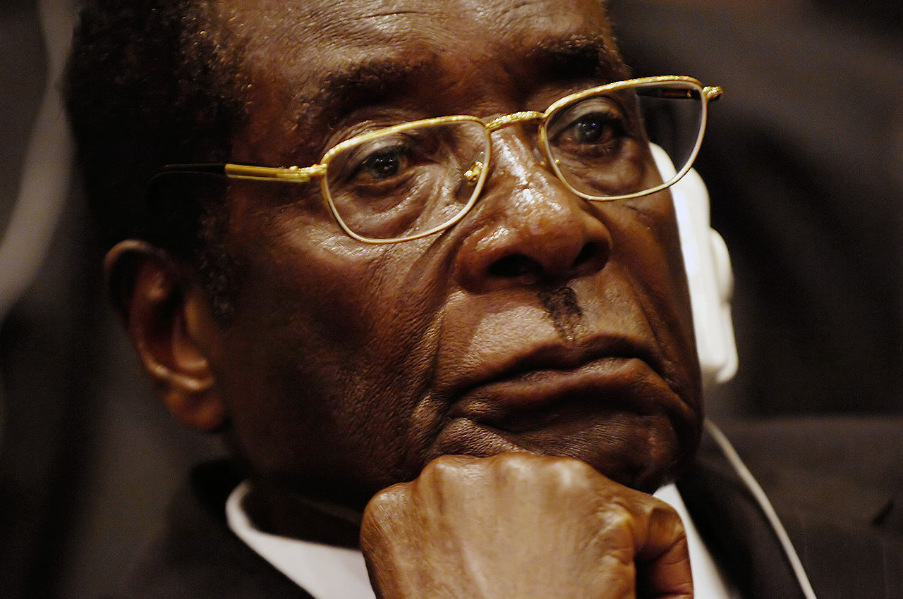 Robert Mugabe at the African Union summit in Addis Ababa, 2008