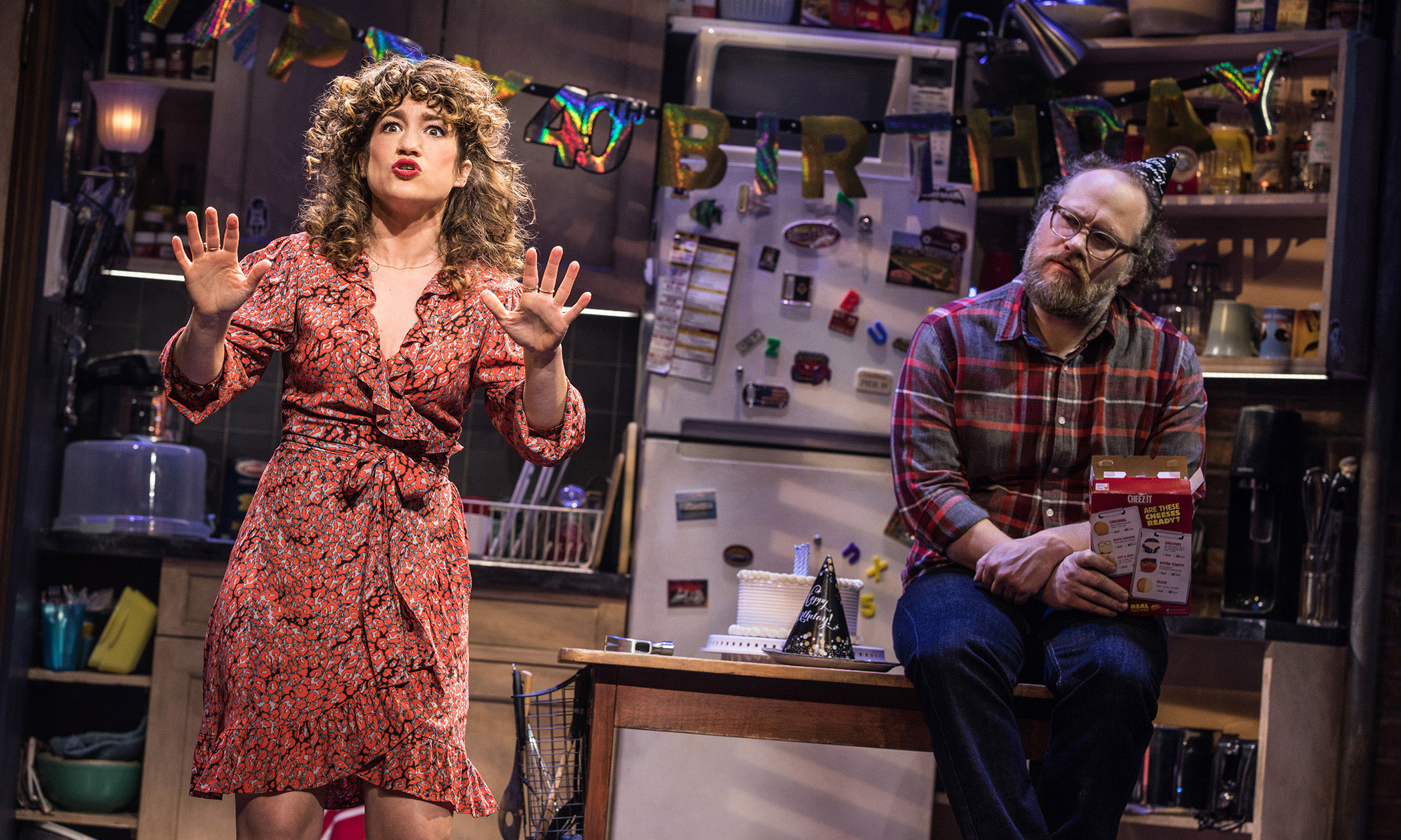 """Sarah Stiles and Andy Grotelueschen in the Broadway production of """"Tootsie."""""""
