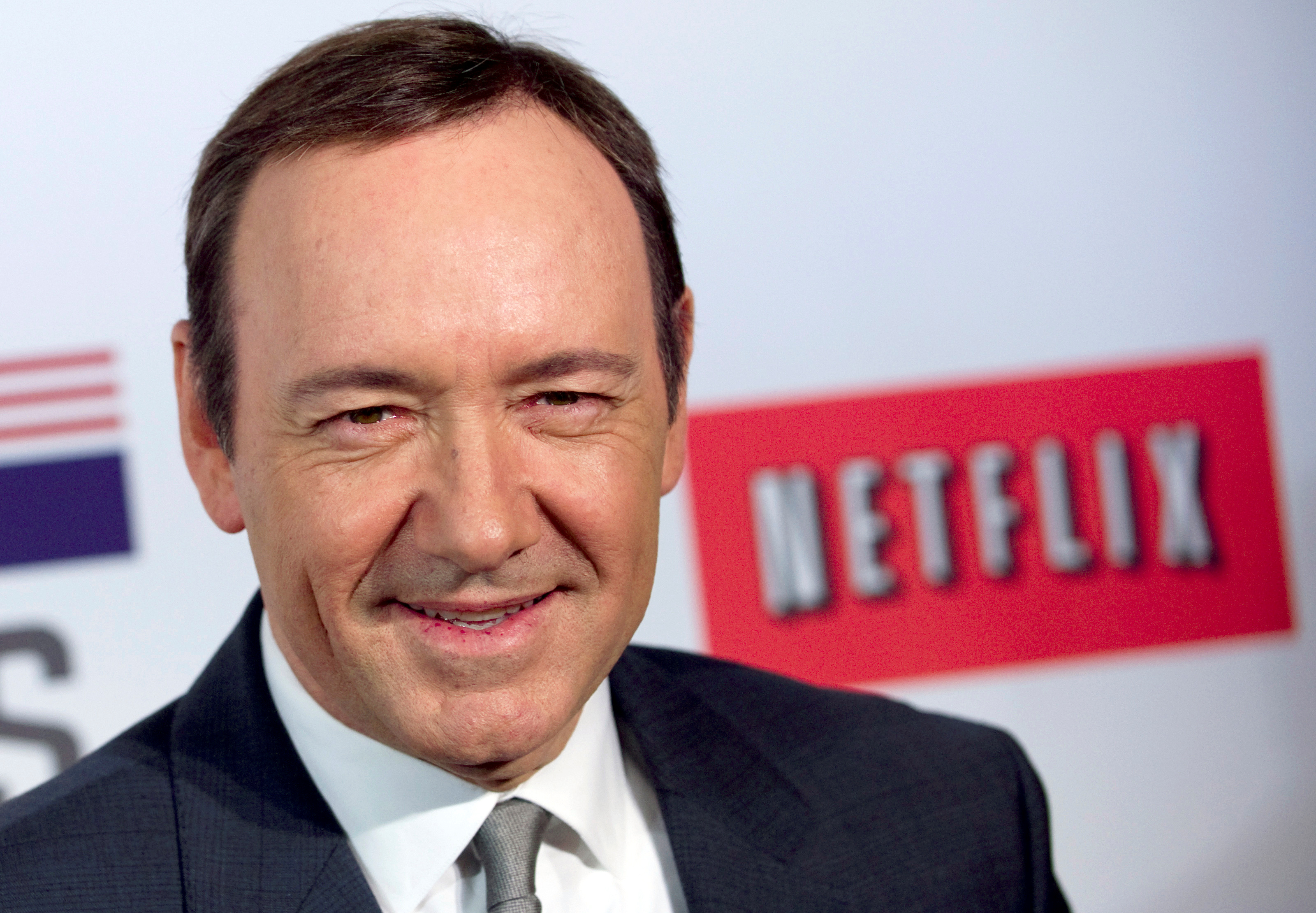 """Actor Kevin Spacey at the premiere of Netflix's television series """"House of Cards"""" at Alice Tully Hall in the Lincoln Center"""