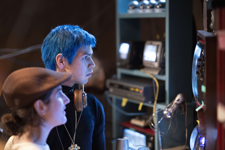 "Julio Torres as Andres and Ana Fabrega as Tati in ""Los Espookys."""