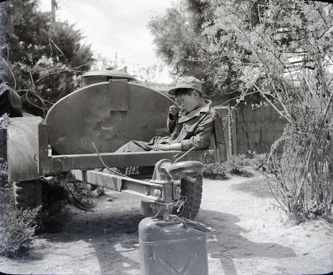 A South Korean houseboy during the korean war