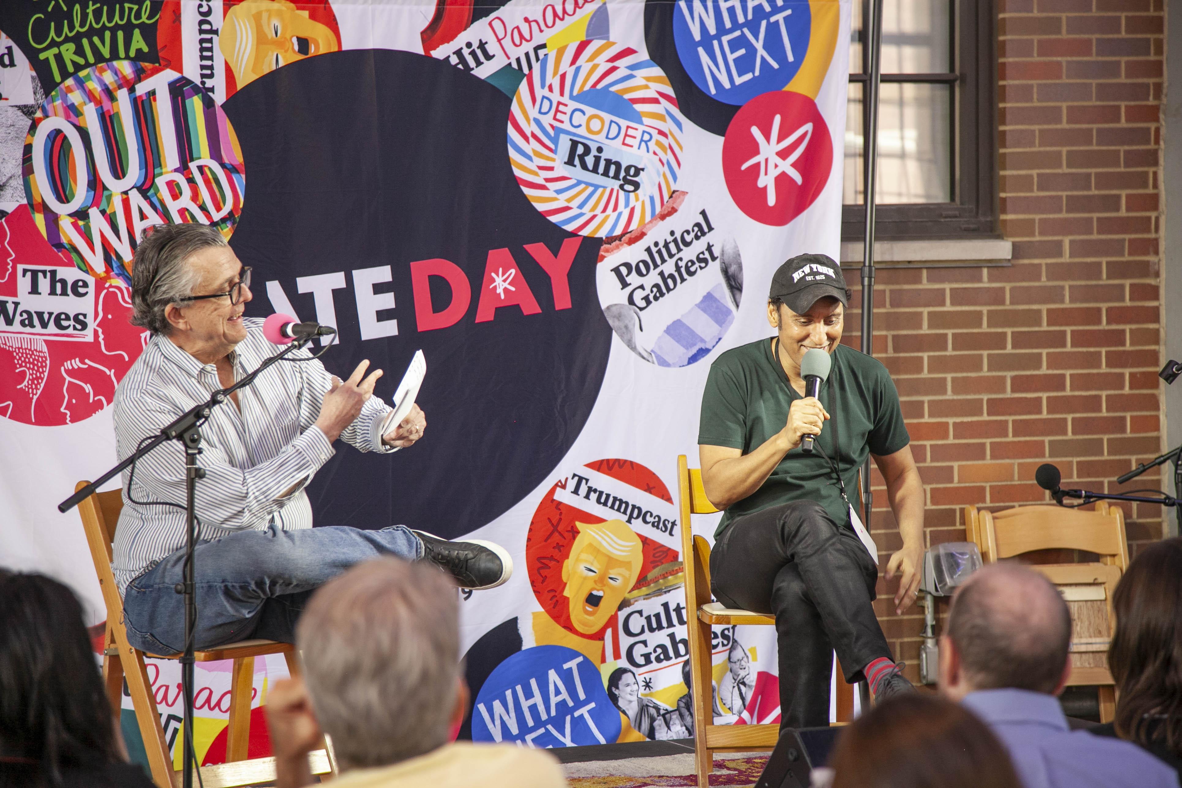 Kurt Andersen talks with Aasif Mandvi.