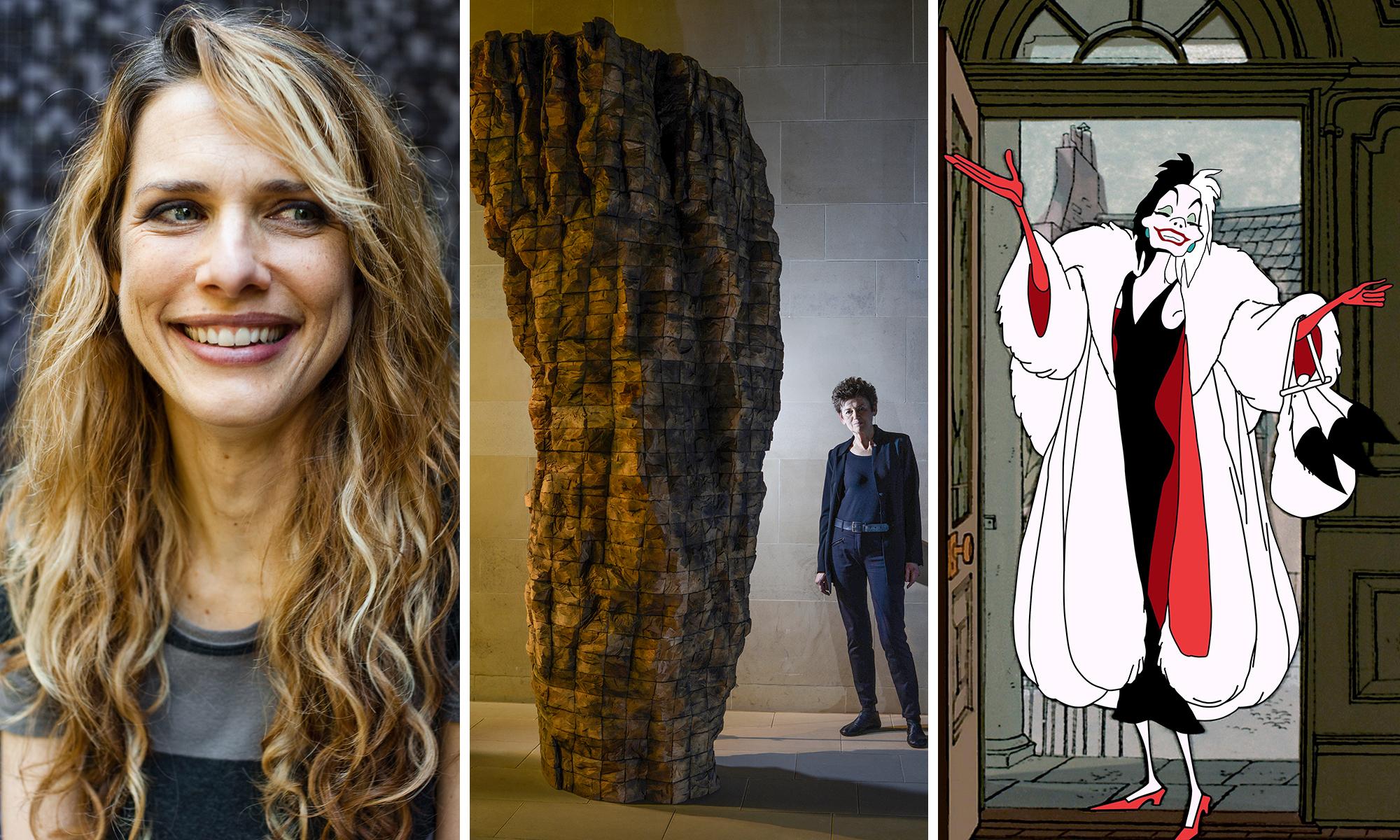 Director Lynn Shelton, artist Ursula von Rydingsvard and one of her sculptures, and the consummate villain Cruella de Vil.