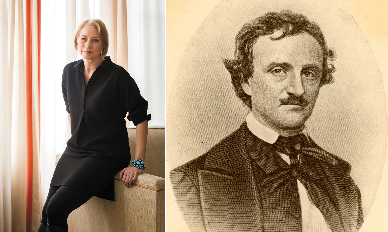Laura Lippman and Edgar Allan Poe.