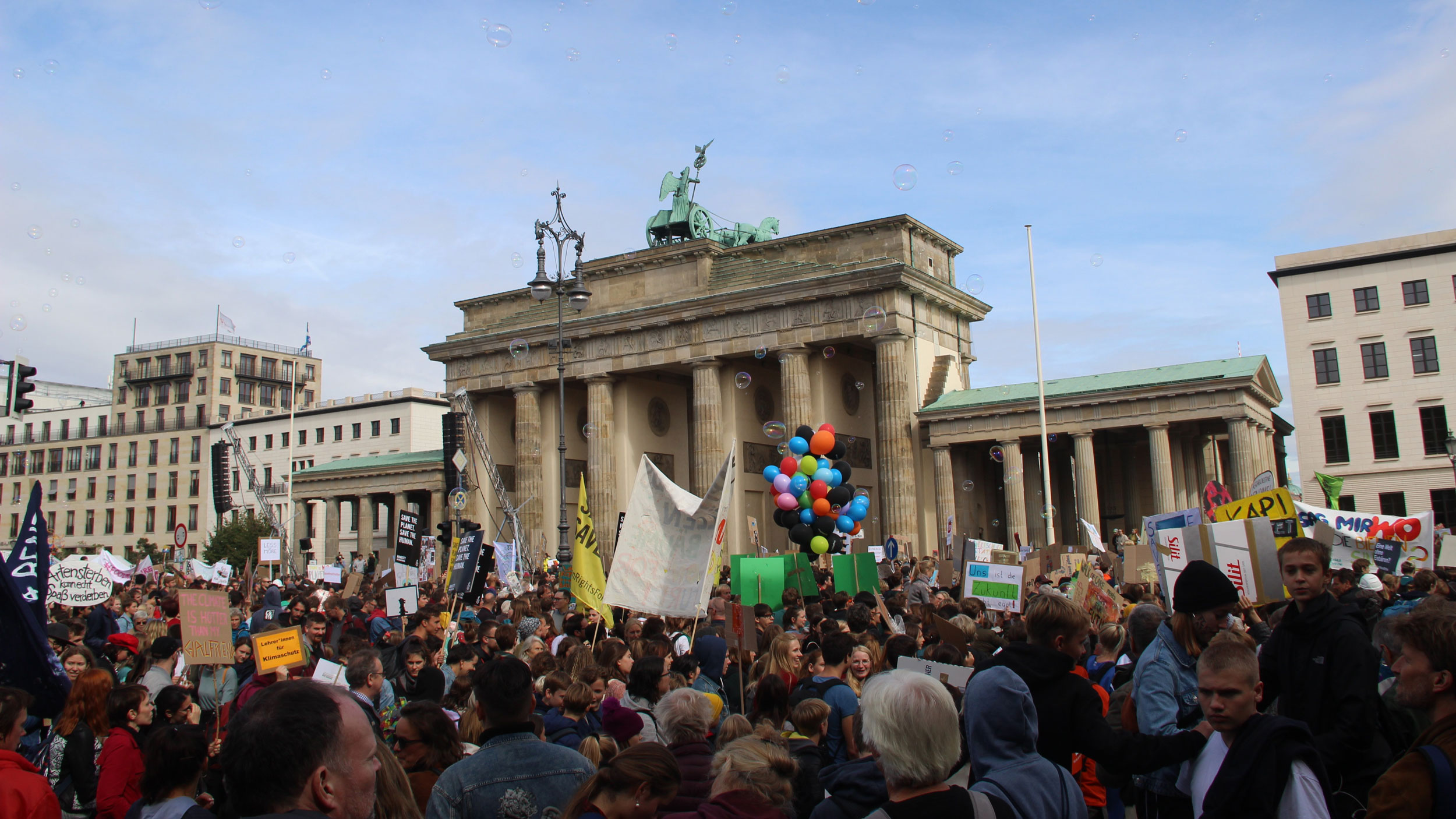 An estimated 100,000 people turned out for the climate strike in Berlin on Sept. 20, 2019.