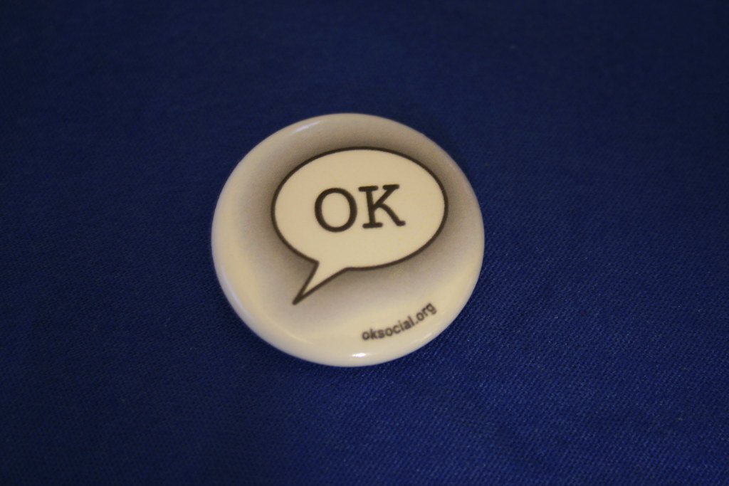 """a button with the word """"OK"""""""