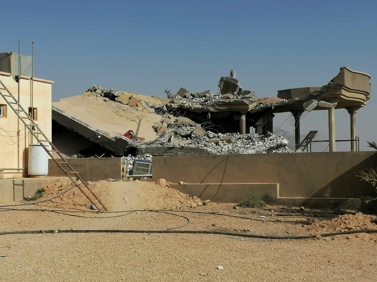 The ruins of a bombed base in Iraq.
