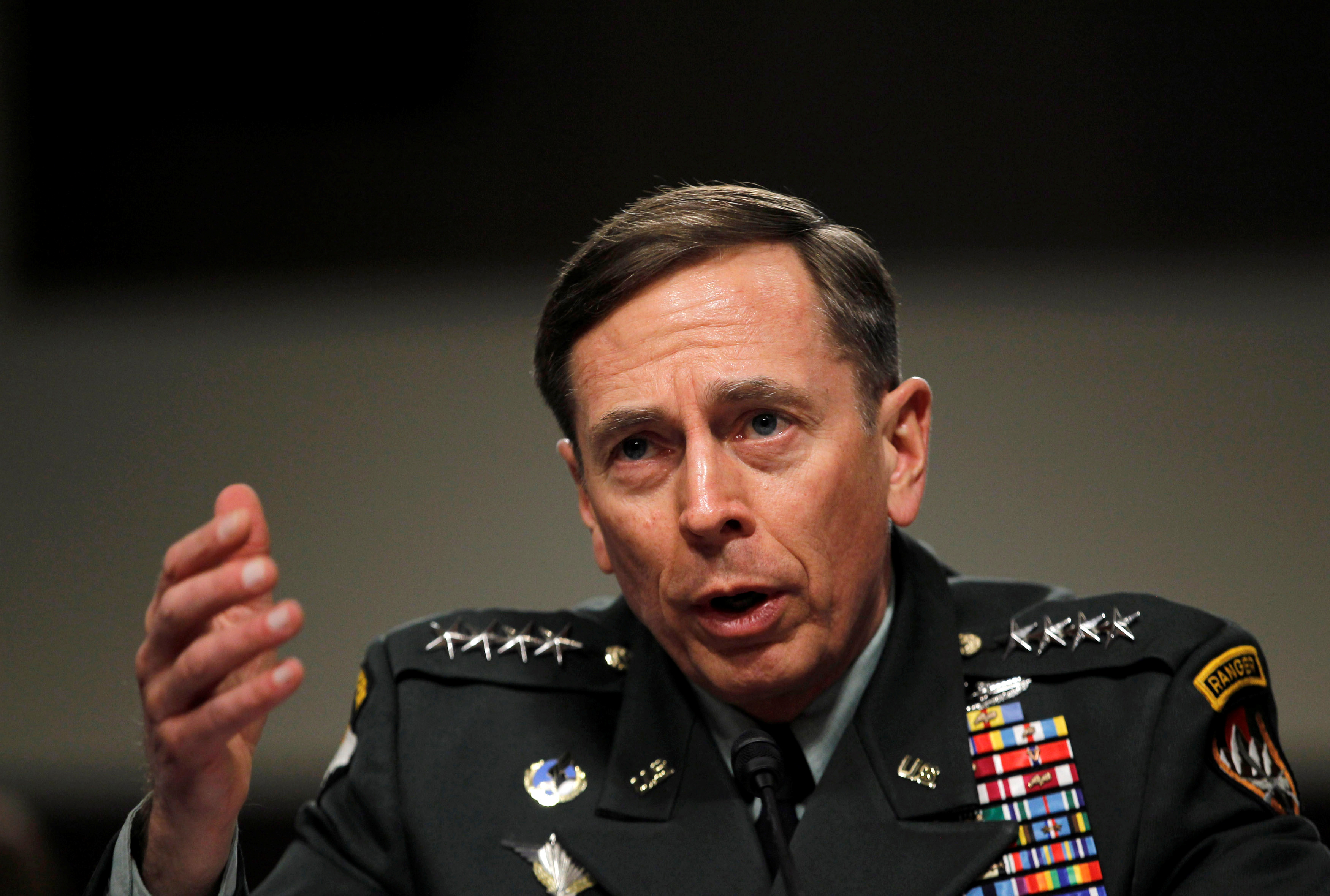 Gen. General David Petraeus, commander of the international security assistance force and commander of US Forces in Afghanistan, testifies at a Senate Armed Services committee hearing on the situation in Afghanistan, on Capitol Hill in Washington, DC.