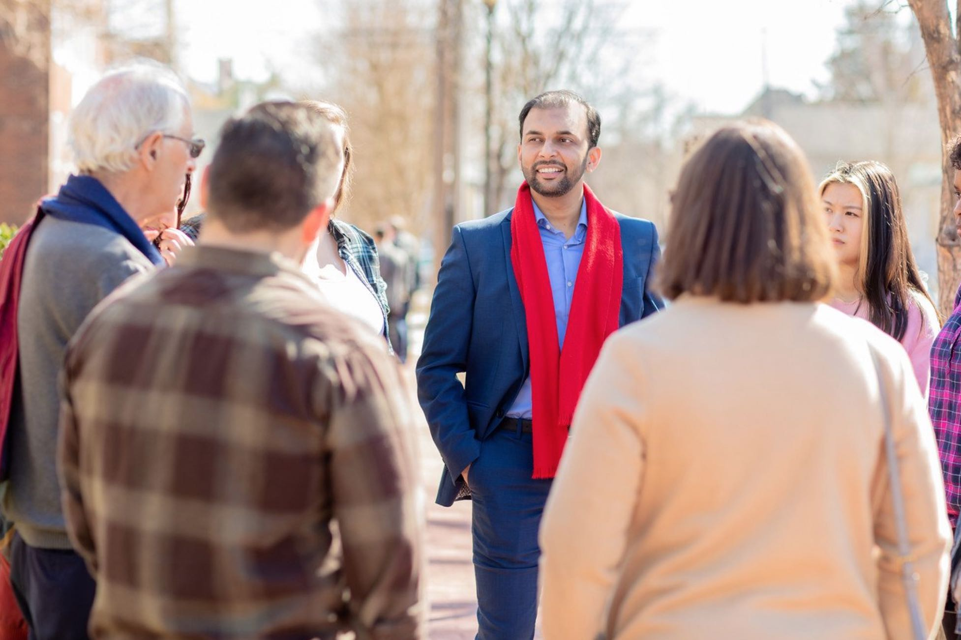 Qasim Rashid is a congressional candidate in Virginia. He sees attacks on himself as an opportunity to open up a dialogue with people.