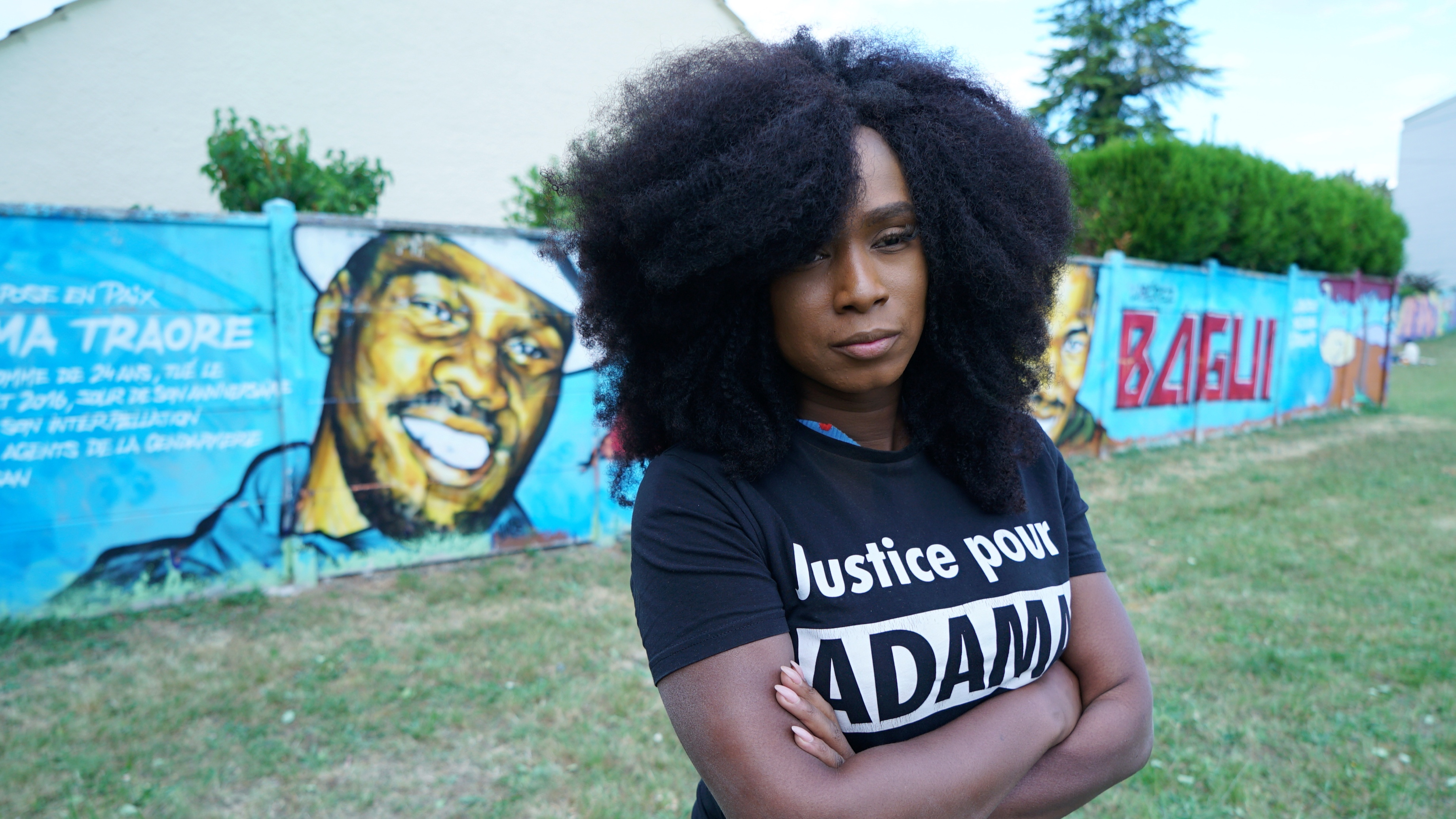 Assa Traore Sister Of Adama Traore A 24 Year Old Black Frenchman Who Died In 2016 During Police Detention Poses During An Interview With Reuters In Beaumont Sur Oise Near Paris June 7 2020 The