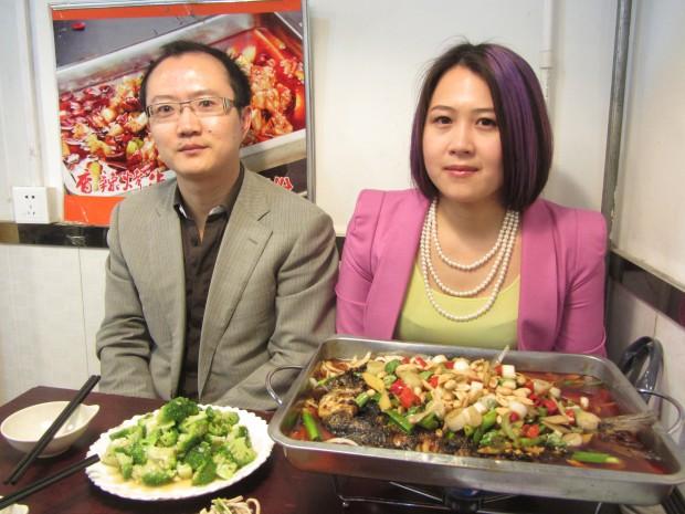 Marketing executives Zhang Ye and Xia Xue.