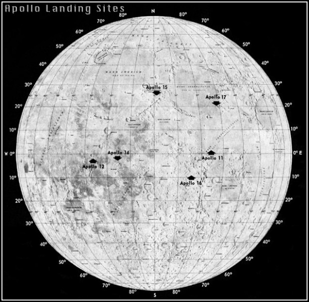 location moon map landing site apollo 12 - photo #2