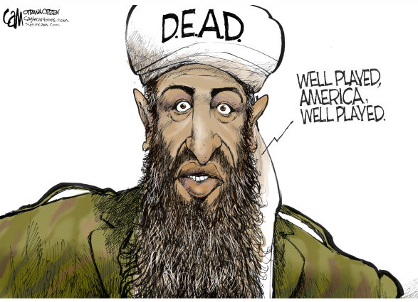 Image result for bin Laden CARTOON