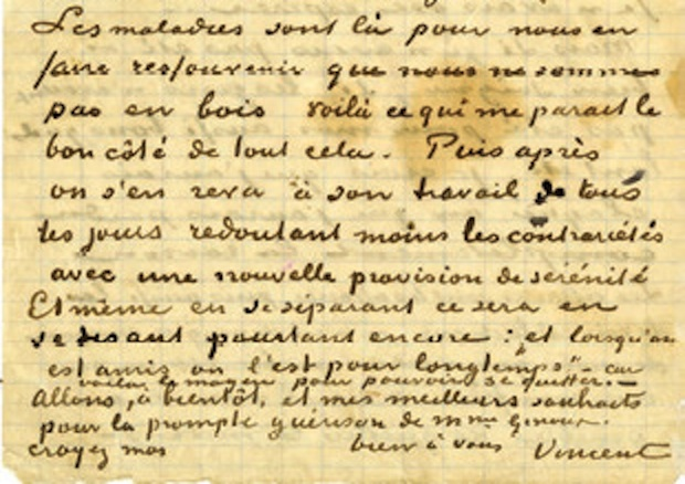 van goghs letter to madame ginoux arles france 1890 photo profiles in history