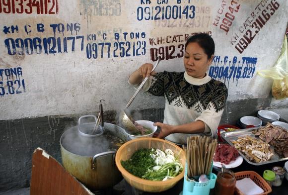 Beef pho vendor