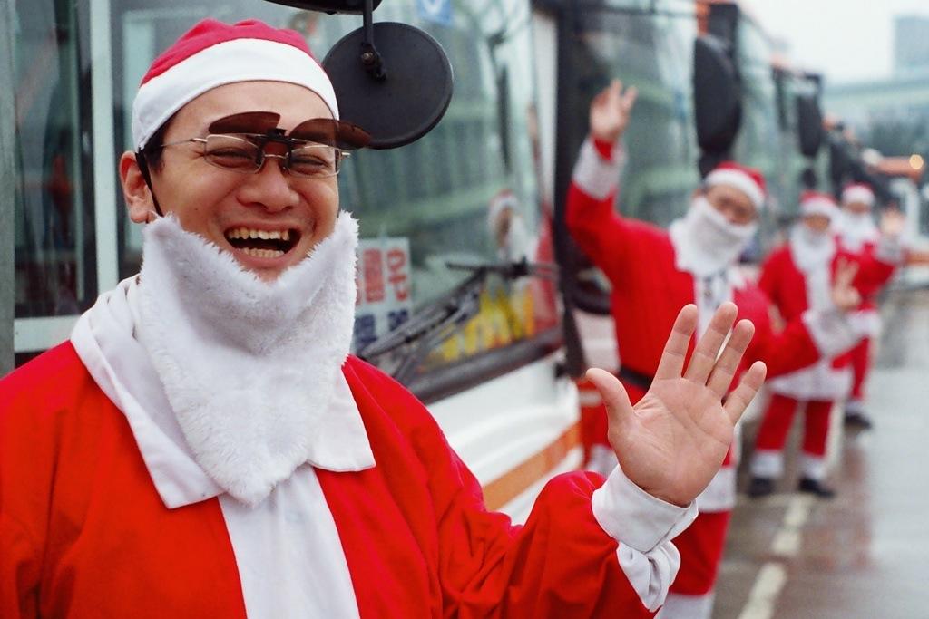 Taiwan's Santa bus drivers.