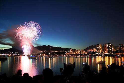 Vancouver, BC, during the 2010 Olympics.