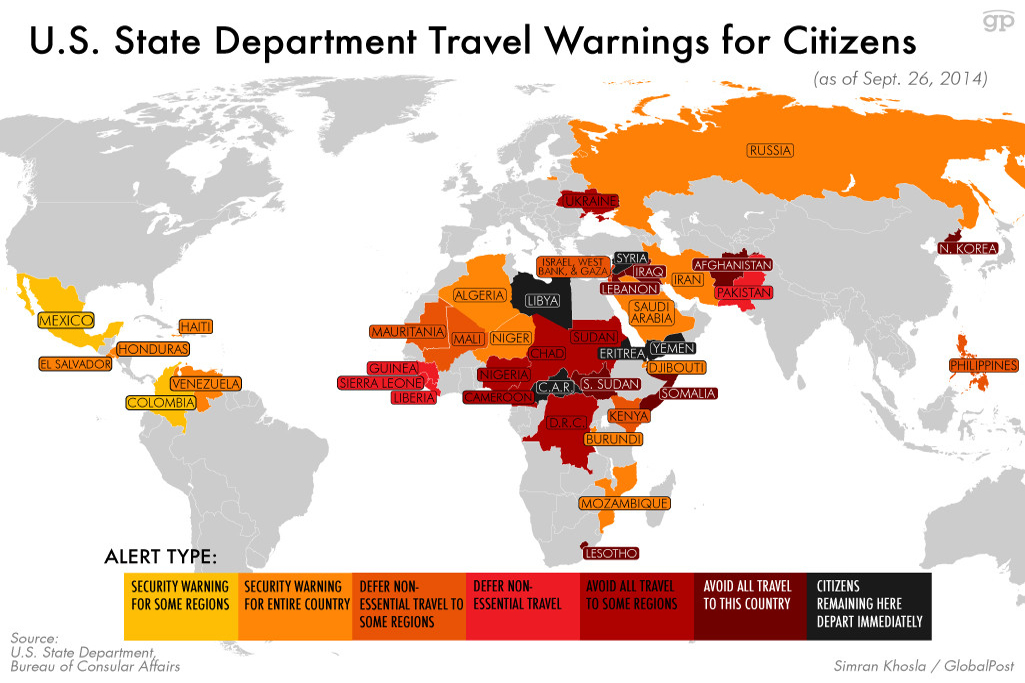 US government to its people Stay away from these countries – Travel Map Of Us